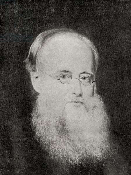 "Wilkie Collins, from the book ""The Masterpiece Library of Short Stories"" (b/w photo)"