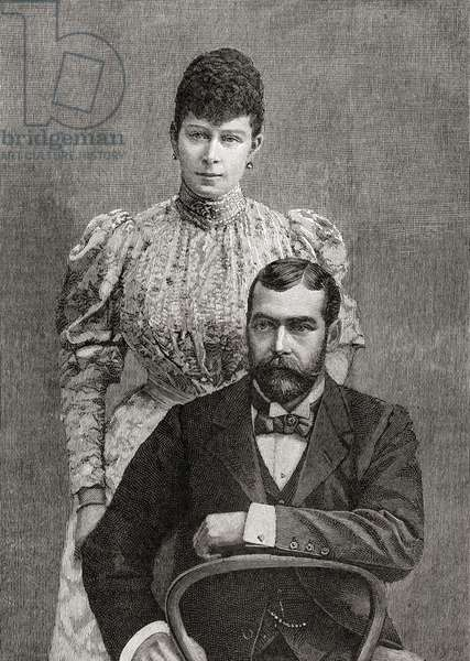 The Duke and Duchess of Cornwall, George V and his wife Mary of Teck.
