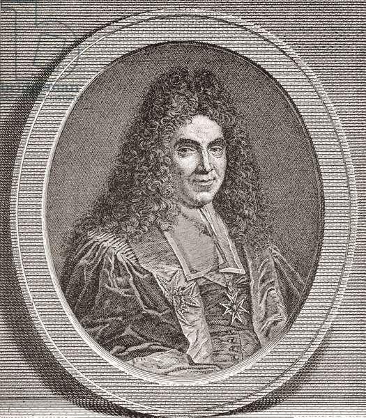 Marc-René de Voyer de Paulmy, 1st marquis d'Argenson, 1652 –1721.  French politician.  From Les Heures Libres published 1908.