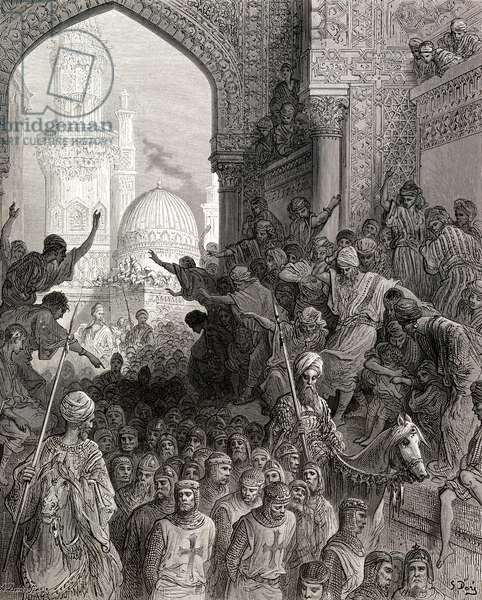 Arrival at Cairo of prisoners of Minich during the seventh crusade