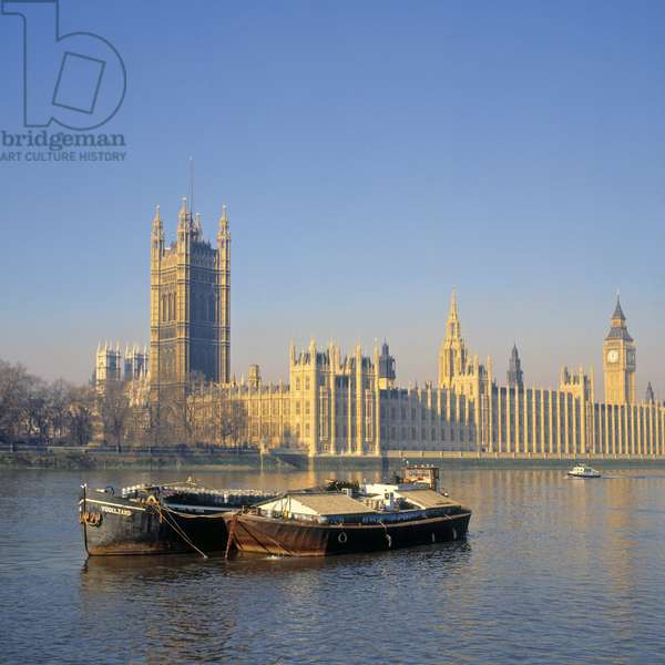 View of the Houses of Parliament, begun in 1836 (photo)
