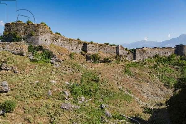 Gjirokastra or Gjirokaster, Albania. The Castle or Citadel.  Gjirokastra is a UNESCO World Heritage Site. (photo)