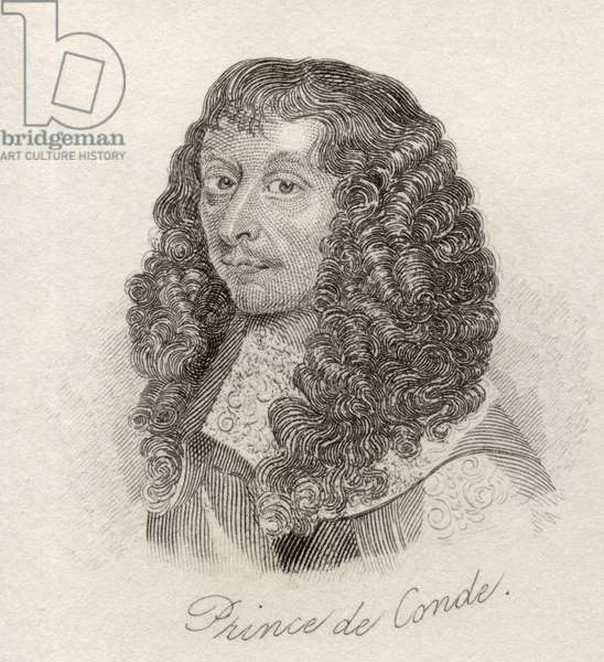 Louis II de Bourbon, Prince de Conde, from 'Crabb's Historical Dictionary', published 1825 (litho)