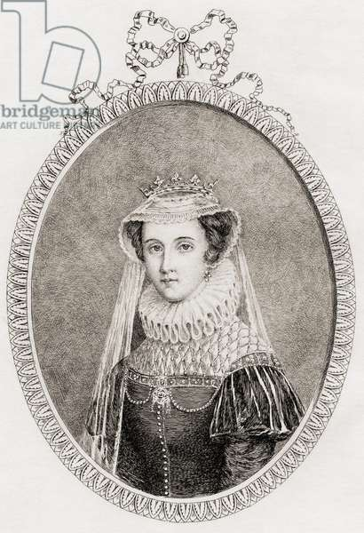 Mary Queen of Scots (1542-87) also Mary Stuart (etching)