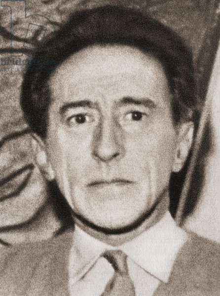 Jean Maurice Eugene Clement Cocteau, after a contemporary print