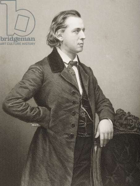 Henry Ward Beecher (1813-1887) engraved by D.J. Pound from a photograph, from 'The Drawing-Room of Eminent Personages, Volume 2', published in London, 1860 (engraving)