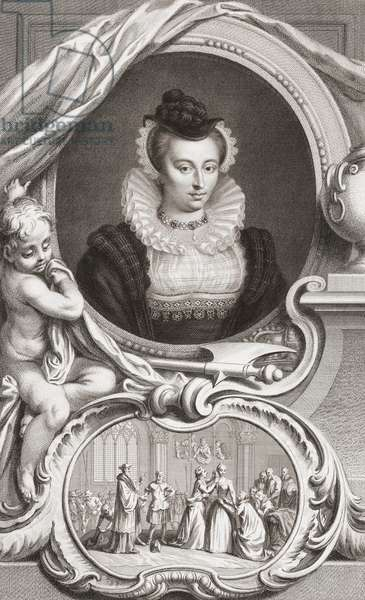 Mary, Queen of Scots (1542-1587) (engraving)
