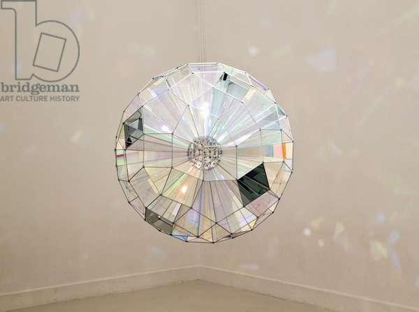 Colour Square Sphere, 2007 by Danish artist Olafur Eliasson, exhibited in El Centro de Arte Contemporáneo or CAC, Contemporary Art Centre, Malaga, Spain