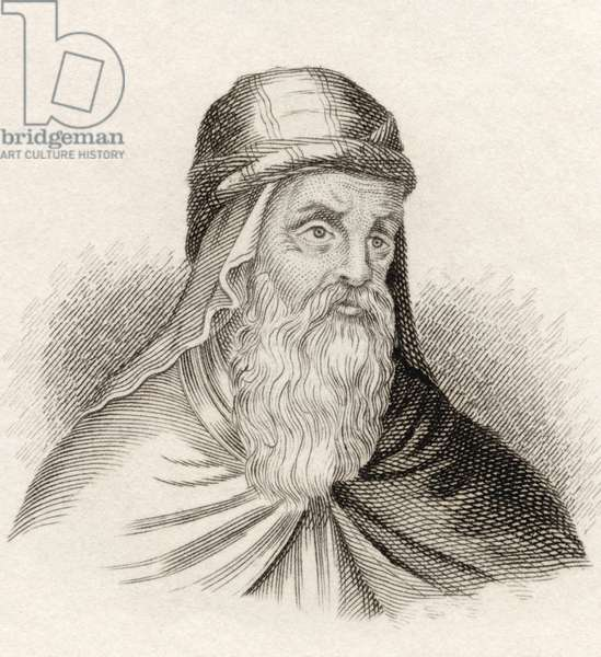 Gregory of Nazianzus, 4th-century Archbishop of Constantinople, from the book Crabbes Historical Dictionary pub. 1825