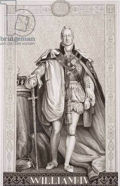William IV (1765-1837) from `Illustrations of English and Scottish History' Volume II (engraving)
