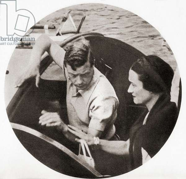 King Edward VIII and his future wife Mrs. Simpson on a shore excursion during their Mediterranean cruise of 1936