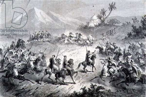 An Adventure, Travellers Attacked by Brigands, illustration from 'The Return to the World' (engraving)