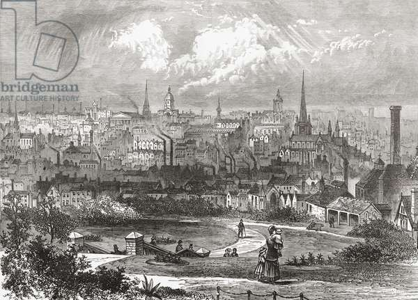 Birmingham, West Midlands, England in the late 19th century, from Our Own Country published 1898