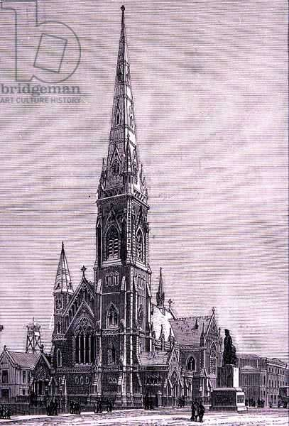 Scots Church, Collins Street, Melbourne, Australia, from 'Australian Pictures', pub. by The Religious Tract Society, 1886 (engraving)