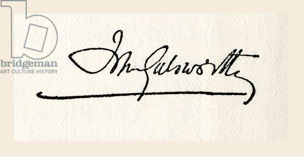 Signature of John Galsworthy
