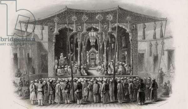 Mohammedan Festival of the Mohurrum, engraved by J. Godfrey (engraving)