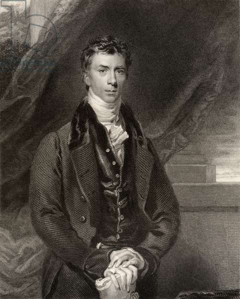 Henry Peter Brougham, 1st Baron Brougham and Vaux, engraved by H. Robinson, from 'National Portrait Gallery, volume IV', published c.1835 (litho)