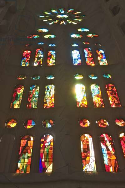 Stained glass window (photo)