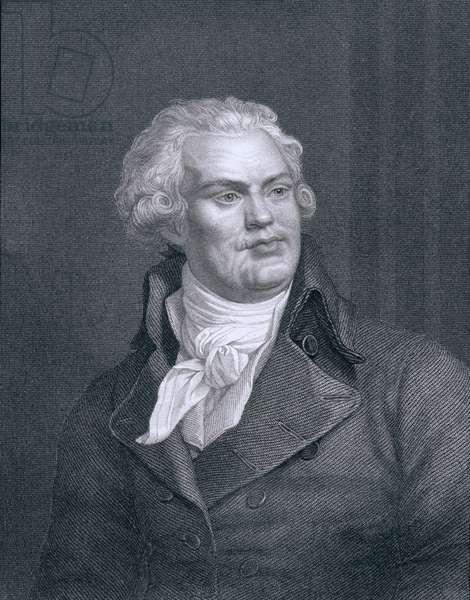 Georges Jacques Danton (1759-94) (engraving)
