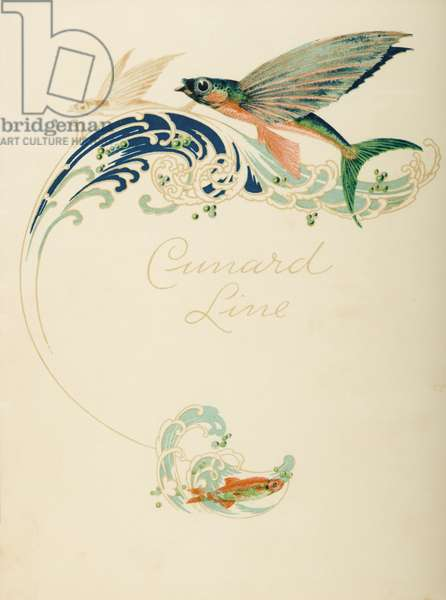 Dinner menu cover from the R.M.S Caronia, 1929 (colour litho)