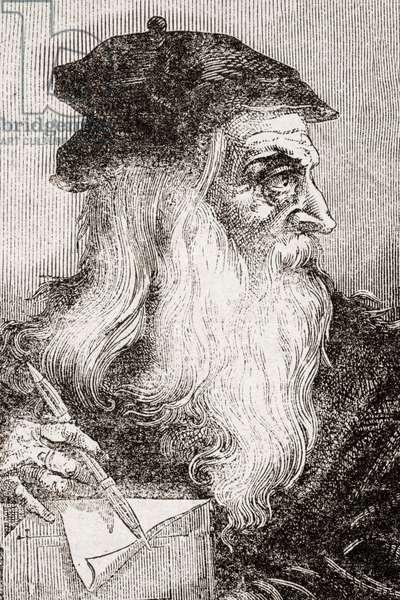 Leonardo Da Vinci, 1452-1519. Florentine artist.