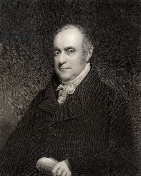 Sir Benjamin Hobhouse, 1st Baronet, engraved by John Cochran (fl.1821-65), from 'National Portrait Gallery', published c.1835 (litho)