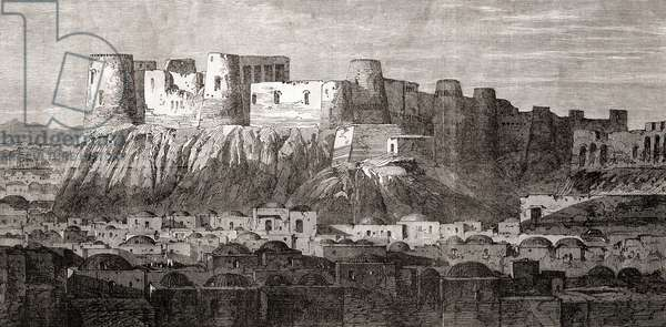 The Citadel of Herat and Qala Iktyaruddin, Herat, Afghanistan, from 'L'Univers Illustré', 1866 (engraving)