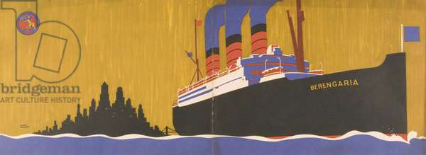 Cunard Line promotional brochure for 'Berengaria' c.1930 (colour litho) (see 243564 for detail)