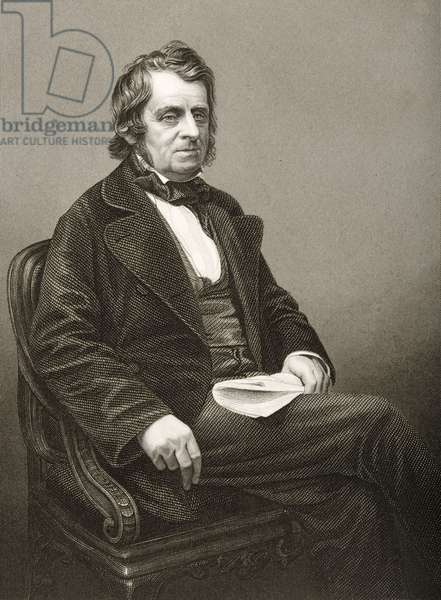 John Arthur Roebuck (1801-79) engraved by D.J. Pound from a photograph, from 'The Drawing-Room of Eminent Personages, Volume 2', published in London, 1860 (engraving)