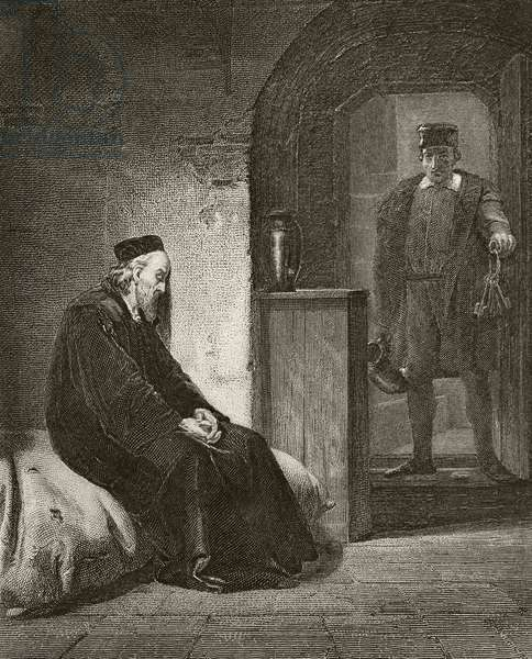 Sir Thomas More in prison, from 'The National and Domestic History of England' by William Hickman Smith Aubrey (1858-1916) published London, c.1890 (litho)