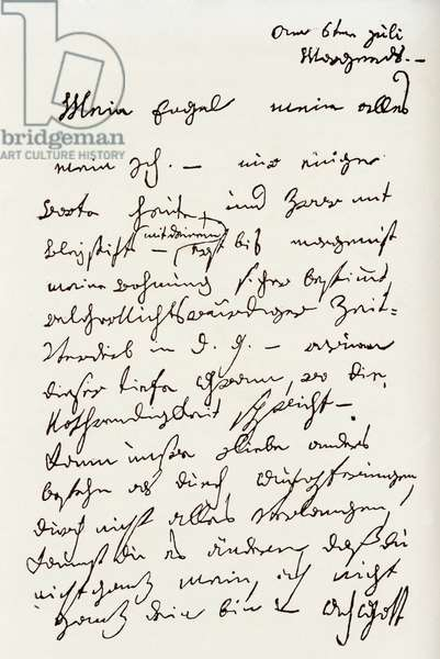 Letter from Beethoven to 'The Immortal Beloved' (pen & ink)