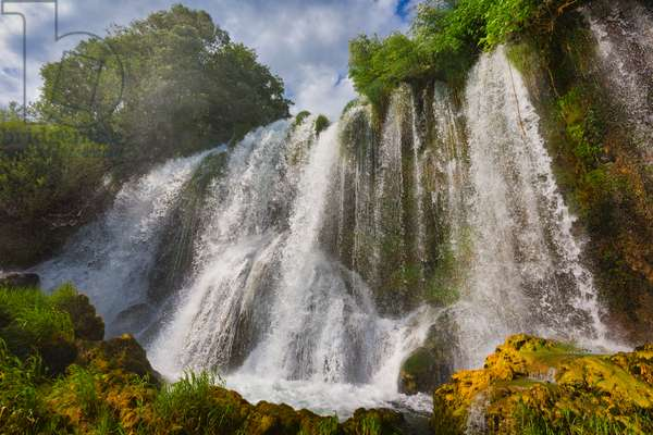 Roski Slap waterfall, Krka National Park, Nacionalni park Krka, Dalmatia, Croatia (photo)