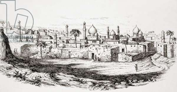 Baghdad, Iraq, after a mid-19th century illustration, from L'Histoire Universelle Ancienne et Moderne, published in Strasbourg c.1860 (engraving)