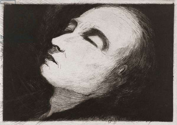 Vincent van Gogh on his deathbed