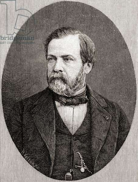 Louis Pasteur, from 'The Century Illustrated Monthly Magazine', published 1884 (wood engraving)