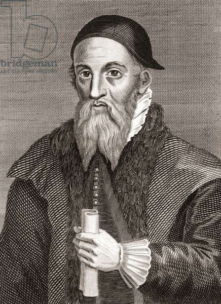 Alexander Erskine of Gogar, c.1521-1592.  Scottish laird and keeper of James VI of Scotland at Stirling Castle.  From Iconographia Scotica or Portraits of Illustrious Persons of Scotland, published 1797.