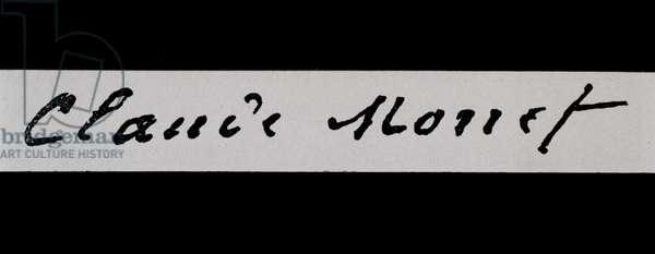 Signature of Claude Monet (ink on paper)
