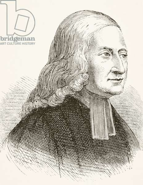 John Wesley, from 'The National and Domestic History of England' by William Hickman Smith Aubrey (1858-1916) published London, c.1890 (litho)
