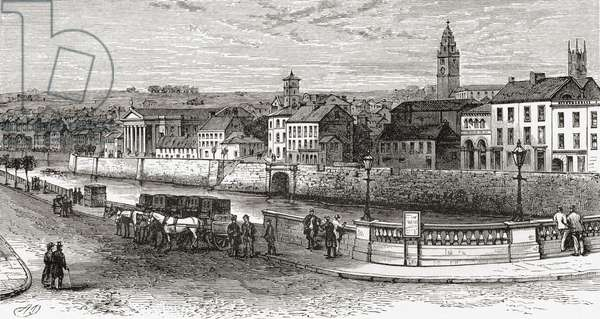 Shandon by the River Lee, County Cork, Ireland in the late 19th century, from Our Own Country published 1898
