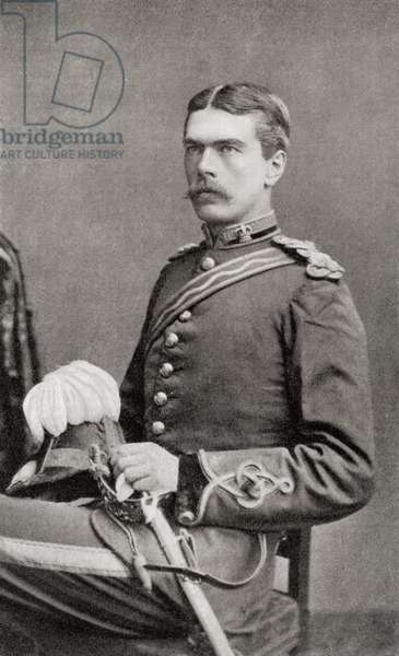 Lord Kitchener as a young officer of the Royal Engineers.  Field Marshal Horatio Herbert Kitchener, 1st Earl Kitchener, 1850 – 1916. British Field Marshal.   From Field Marshal Lord Kitchener, His Life and Work for the Empire, published 1916.
