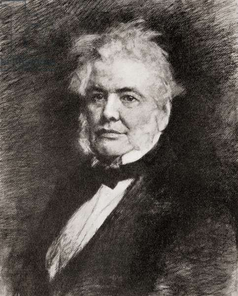 Isaac Butt, Irish barrister, politician, Member of Parliament and 1st Leader of the Home Rule Leagu, from Hutchinson's History of the Nations, pub.1915