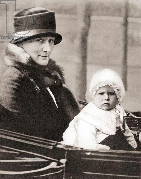 Princess Elizabeth of York, future Queen Elizabeth II,aged 2, from The Coronation Book of King George VI and Queen Elizabeth, pub.1937