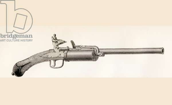 Snaphaunce Revolver, from The National Encyclopaedia published by William Mackenzie London, late 19th century