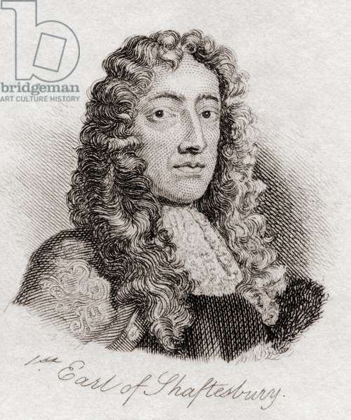 Anthony Ashley Cooper, 1st Earl of Shaftesbury, from the book Crabbs Historical Dictionary pub. 1825