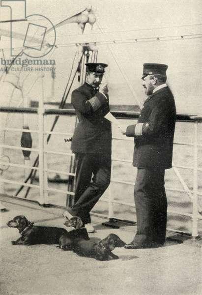 Kaiser Wilhelm II (1859-1941) Emperor of Germany, King of Prussia (1888-1918) (b/w photo)
