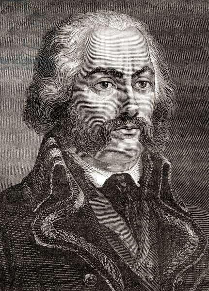 Adam Philippe, Comte de Custine, from 'Histoire de la Revolution Française', by Louis Blanc (engraving)