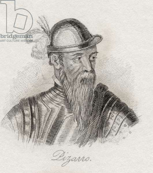 Francisco Pizarro Gonzalez, from 'Crabb's Historical Dictionary', published 1825 (litho)
