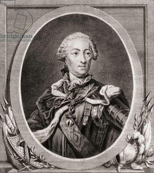 Louis XV Louis The Well Beloved: king of France from 1715 to 1774 (etching)