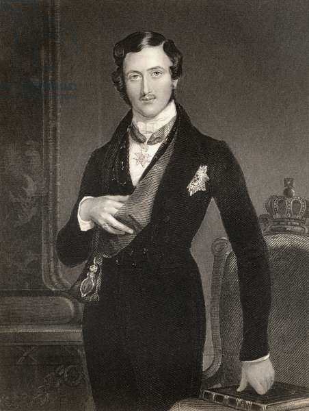 Albert Prince Consort of Great Britain, engraved by W. Holl, from 'The National Portrait Gallery, Volume IV', published c.1820 (litho)