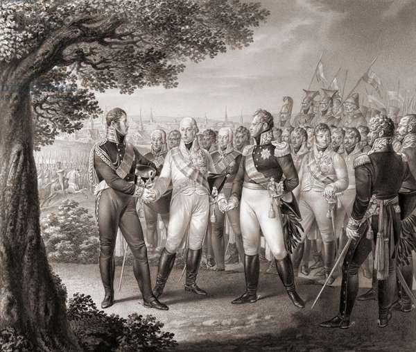 European monarchs of Sixth Coalition